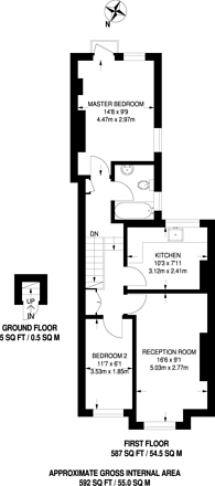 Large floorplan for Argyle Avenue, Hounslow, TW3