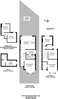 Large floorplan for Kinfauns Road, Tulse Hill, SW2
