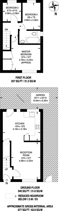 Large floorplan for Oliver Gardens, Beckton, E6