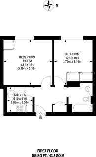 Large floorplan for Concordia Wharf, Canary Wharf, E14