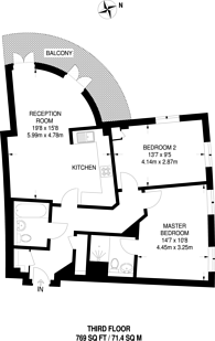 Large floorplan for Jefferson Place, Bromley, BR2
