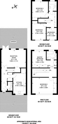 Large floorplan for Loudoun Road, St John's Wood, NW8