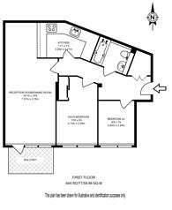 Large floorplan for Dickens Yard, Ealing, W5
