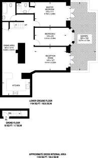 Large floorplan for Trinity Road, Wandsworth Common, SW17
