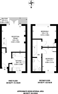Large floorplan for Manor Close, Higham Hill, E17