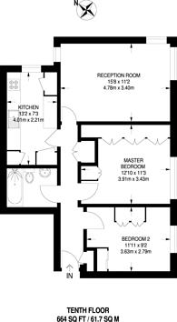 Large floorplan for The Waldrons, Croydon, CR0