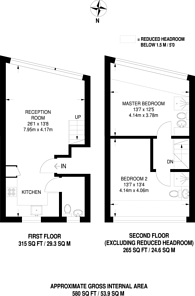 Large floorplan for Vernon Road, Sutton, SM1