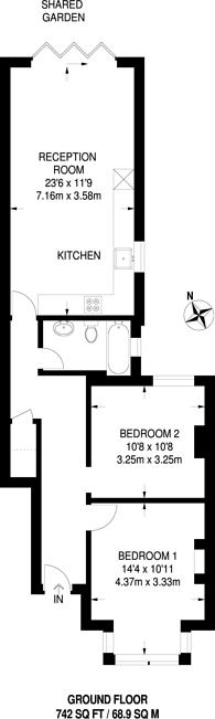 Large floorplan for Greenleaf Road, Walthamstow, E17