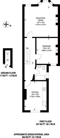 Large floorplan for Manor Road, Leyton, E10