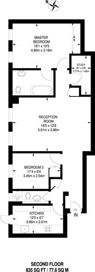 Large floorplan for Portsea Place, Hyde Park Estate, W2