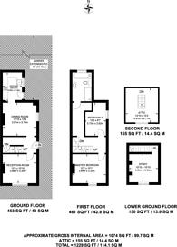 Large floorplan for Markenfield Road, Guildford, GU1