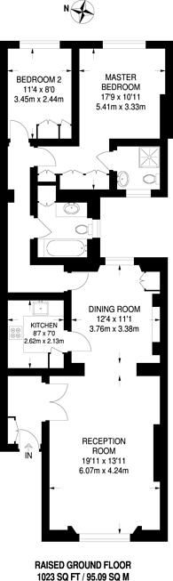Large floorplan for Kensington Gardens Square, Westbourne Grove, W2