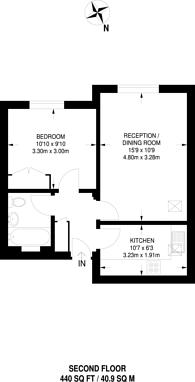 Large floorplan for South Hill Avenue, South Harrow, HA2
