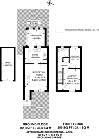 Large floorplan for Wiltshire Lane, Pinner, HA5