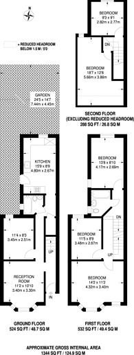 Large floorplan for Capworth Street, Leyton, E10