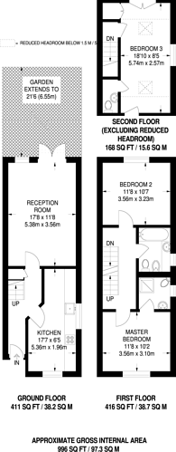 Large floorplan for Stevenage Road, Fulham, SW6