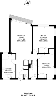 Large floorplan for Castelnau, Barnes, SW13