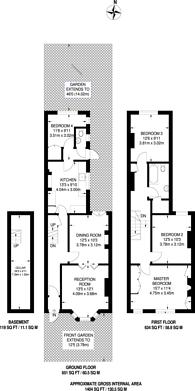 Large floorplan for Chobham Road, Stratford, E15