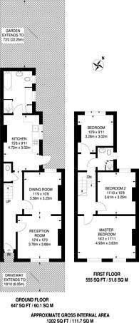 Large floorplan for Manbey Grove, Stratford, E15