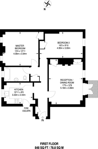 Large floorplan for Shrewsbury House, Cheyne Walk, Chelsea, SW3