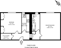 Large floorplan for Ormonde Terrace, Primrose Hill, NW8