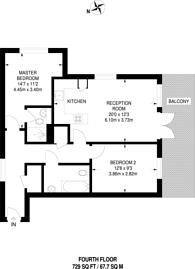 Large floorplan for Maltings Close, Tower Hamlets, E3
