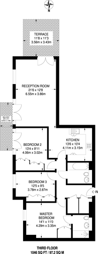 Large floorplan for Apsley House, Holford Way, Roehampton, SW15