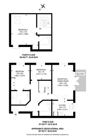 Large floorplan for Brentford Lock, Brentford, TW8