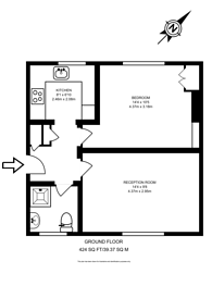 Large floorplan for Menotti Street, Bethnal Green, E2