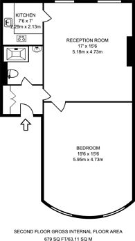 Large floorplan for Clapham Road, Stockwell, SW9