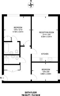 Large floorplan for Highbury Stadium Square, Islington, N5
