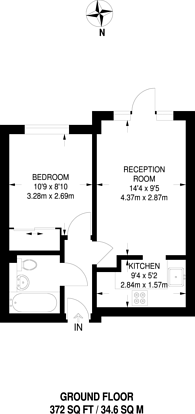 Large floorplan for Wilkins Close, Mitcham, CR4