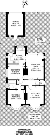 Large floorplan for Brookside Way, Shirley, CR0