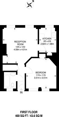 Large floorplan for Druid Street, Bermondsey, SE1