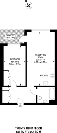 Large floorplan for One The Elephant, St Gabriel Walk, Elephant and Castle, SE1