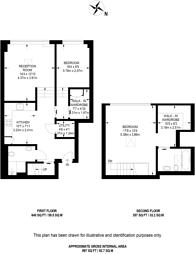 Large floorplan for The Loft House, Fulham, SW6
