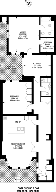 Large floorplan for Palace Court, Notting Hill Gate, W2