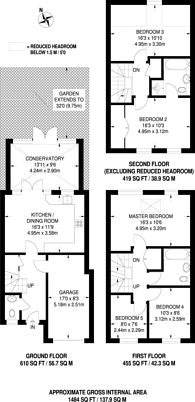 Large floorplan for Draper Close, Isleworth, TW7