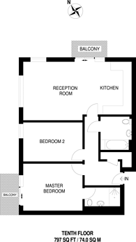 Large floorplan for Emily Street, Canning Town, E16