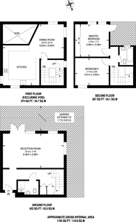 Large floorplan for Collison Place, Stoke Newington, N16