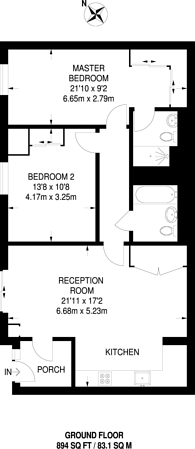 Large floorplan for Caithness Walk, Croydon, CR0