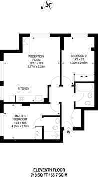 Large floorplan for Masons Avenue, Croydon, CR0