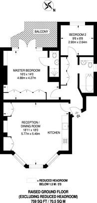 Large floorplan for Netherton Grove, Chelsea, SW10