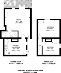 Large floorplan for Leicester Road, Barnet, EN5