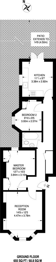 Large floorplan for Bravington Road, Maida Hill, W9