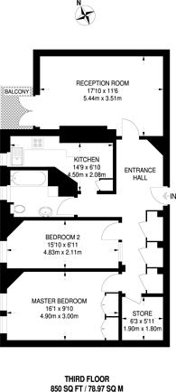 Large floorplan for Circus Road, St John's Wood, NW8