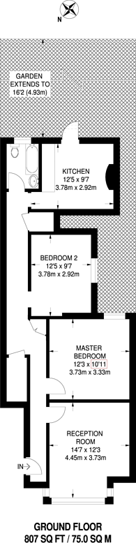 Large floorplan for Dumbarton Road, Brixton Hill, SW2