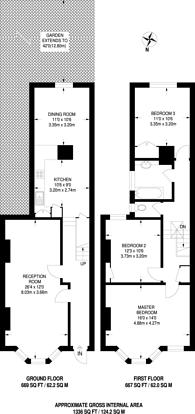 Large floorplan for Roundwood Road, Harlesden, NW10