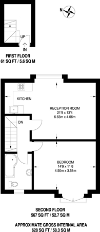 Large floorplan for Ewell Road, Tolworth, KT6