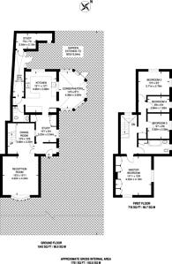 Large floorplan for Cambridge Avenue, New Malden, KT3